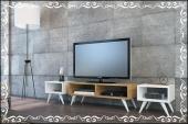 Dekoratif Tv Ünitesi Ceviz Beyaz Renk