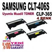 Samsung Sl C410, Sl C460 4 Renk Muadil Toner Clt 406s