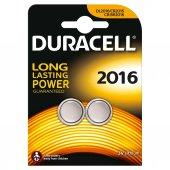 Duracell Düğme Lityum Pil 2016 2li (2 Adet 2016 İcerir)