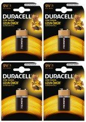 Duracell 9 Volt Pil 4 Adet