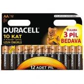 Duracell 9+3 Aa Kalem Pil (12 Adet)