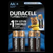 Duracell Turbo Max Aa Kalem Pil 4lü