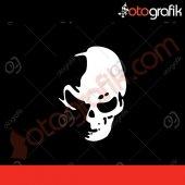 Otografik Kurukafa Silüeti Oto Sticker