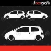 Otografik Renault Twıngo Kelebek Cam Oto Stıcker Set