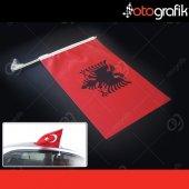 Otografik Arnavut Araç Bayrağı Oto Bayrak