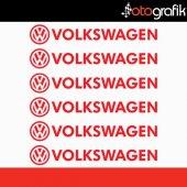 Otografik Volkswagen Kapı Kolu Ve Jant Oto Stıcker Seti V2