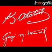 Otografik K. Atatürk İmzası Ve Gazi M. Kemal İmzası Oto Sticker