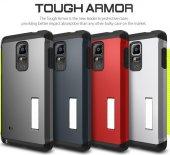 Samsung Galaxy N910 Note 4 Tough Armor Stand Kılıf Ekran Koruyucu