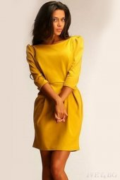 Japon Style Kadın Sarı Elbise