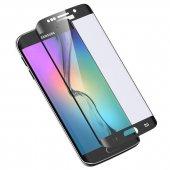 Samsung Galaxy S6 Edge 5d 3d Kavisli Kırılmaz Cam Tam Kaplama Ekr