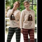 Feyza 3136 Bayan Polar Pijama Takım