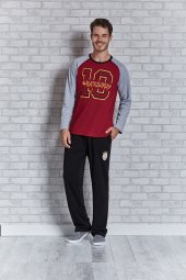Erkek Galatasaray Lisanslı Pijama Takım
