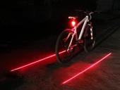 Lazer Şeritli Bisiklet Arka Led Lamba Stop Lambası 7 Farklı Mod