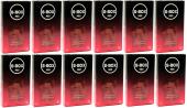 S Box Red Kabartma Yüzeyli Kondom, Prezervatif 12 Li 12 Paket