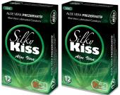 Sk10 Silky Kiss Aloe Vera Kondom Prezervatif 12 Li 2 Paket