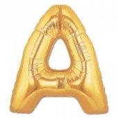 Folyo Balon Harf A Gold Helyum Balon Organizsyon Balonu