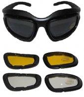 Tex G8005 Uv Yedek Camlı Ce Sertifikalı Motor Bisiklet Gözlük