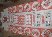 Keramika Kare Butterfly Kahvaltı Takımı 12 Kişilik 80 Parça