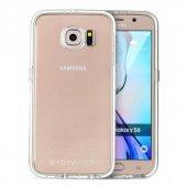 Totudesing Series Samsung S6 Alüminyum Silver Çerçeveli Kılıf