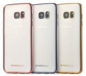 Totudesing Samsung Galaxy S6 Metalik Kenarlı Silikon Kılıf
