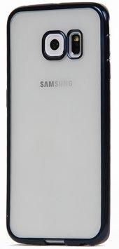 Totu Desing Samsung Galaxy S6 Edge Lacivert Kenarlı Kılıf