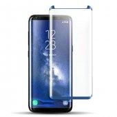 Samsung Galaxy S8 Kavisli Kılıf Dostu Ekran Koruyucu Mavi