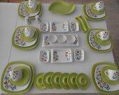 Keramika Yeşil Butterfly Kahvaltı Takımı