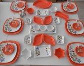 Keramika Turuncu Butterfly Kahvaltı Takımı