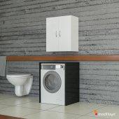 Modilayn Ard 102 Makine Üstü Banyo Dolabı Beyaz