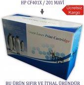 Hp Cf401x 201 (M277 274 252) Mavi Muadil Toner