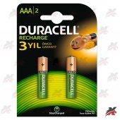 Duracell 1.2v 750 Mah Aaa İnce Kalem Şarjlı Pil 2li Pak Recharge