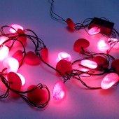 03414 Yılbaşı Çam Ağacı Süsleme Işıkları Kalp Şekilli