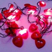 91289 5 Yılbaşı Çam Ağacı Süsleme Işıkları Çift Kalp Şekilli