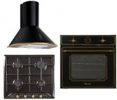 Ferre Rustik Mat Black Ankastre Set (4004 R 640 Rst)