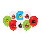 Angry Birds Klasik Temalı Balon 4+1 Pastel Renk (20 Adet)