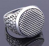 925 Ayar Gümüş Yuvarlak Erkek Yüzüğü