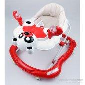 Yürüteç Bebek Yürüteç Ünal Panda Müzikli Bebek Yürüteçi Stoperli Hoppala Örümcek Kırmızı Ücretsiz Kargo
