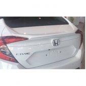 Honda Civic 2016 2018 Fc5 Işıksız Boyalı Spoiler Tayvan Beyaz