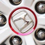 Honda Jant Göbek Halka Kaplama Kırmızı