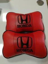 Honda Yazılı Yastık Deri Boyun Yastığı 2 Adet