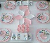 Keramika Açık Pembe Butterfly Kahvaltı Takımı...