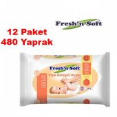 Fresh & Soft Pişik Önleyici Islak Havlu 40 Lı X12 Paket