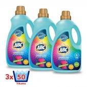 Abc 3 Lt Sıvı Çamaşır Deterjanı Renkliler X 3 Adet