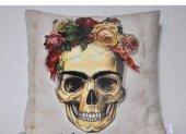 Nevresim Dünyası 3d Dekoratif Kırlent Kılıfı Frida Kurukafa