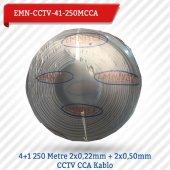 Emnıyet 4+1 250 Metre 2x0,22mm + 2x0,50mm Cctv Cca Kablo Emn Cctv 41 250mcc