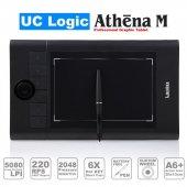 Uc Logıc Lapazz A5 Wide Siyah 2048 Kademe Basınç 5080lpi Grafik Tablet Ucmn853