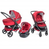 Chicco Trio Stylego W Kit Car Trio Travel Sistem Bebek Arabası Red Passion