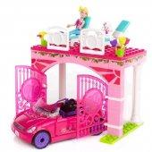 Mega Bloks Barbie Araç Ve Garaj Oyun Seti