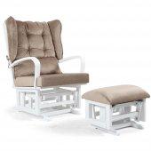 Tahterli Astoria Sallanır Emzirme Koltuğu Sandalyesi (Beyaz) Kahve