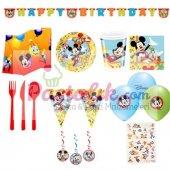 Mickey Mouse Temalı Carnaval Doğum Günü Set 24 Kişilik